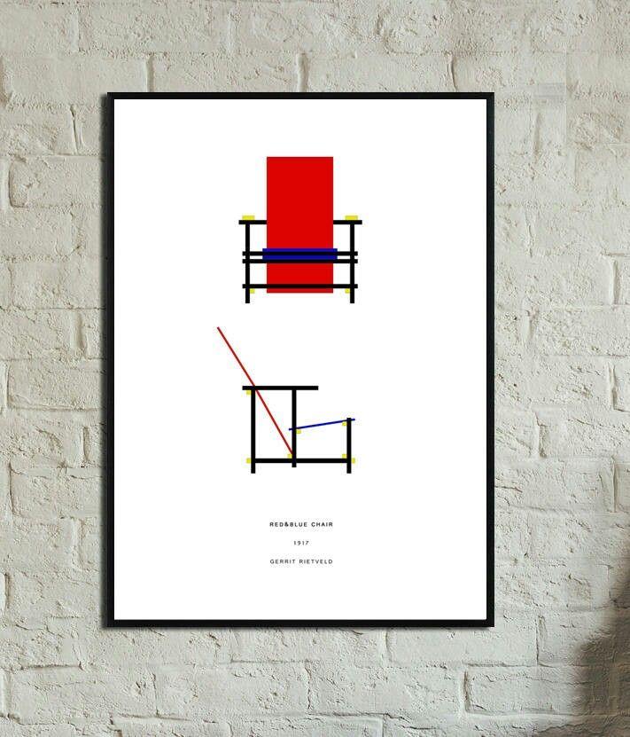 Sono felice di condividere l'ultimo arrivato nel mio negozio #etsy: Gerrit Rietveld Poster. Instant Download. Red & Blue Chair poster. Stampe digitali. Design moderno.Stile scandinavo. Poster stile nordico. http://etsy.me/2yR6jA5