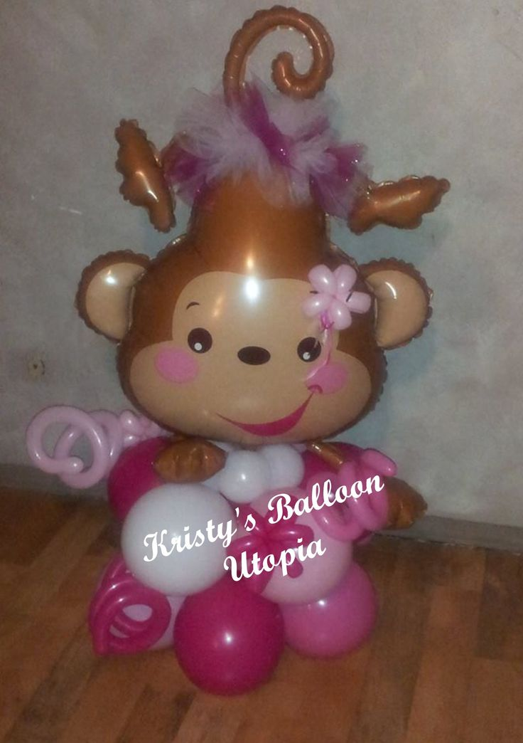 17 best images about monkeys on pinterest balloon cake columns and monkey - Monkey balloons for baby shower ...