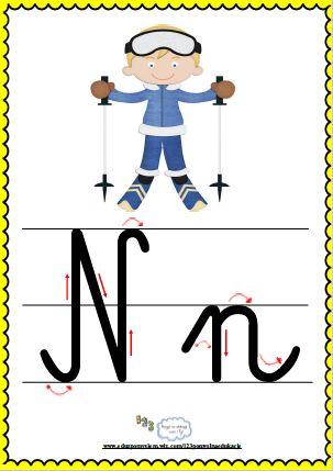 Litera Nn- plansza demonstracyjna FREEEE
