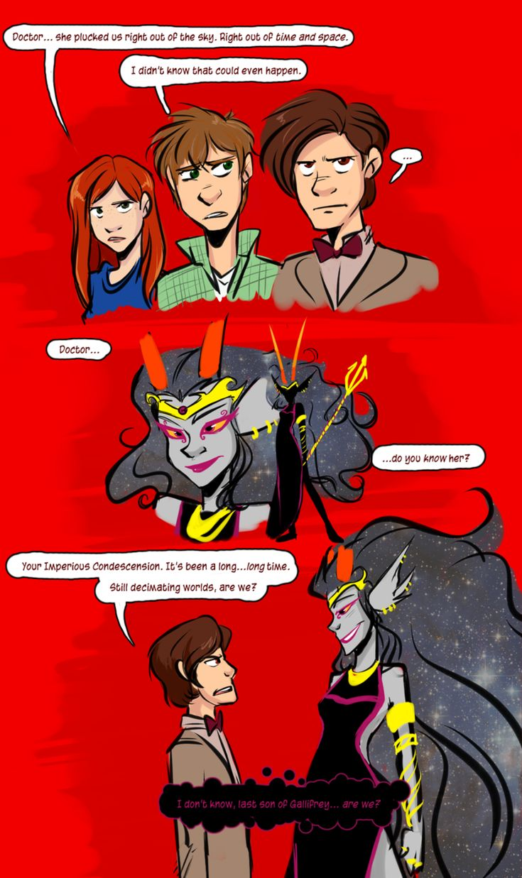 This is pretty funny Homestuck Doctor Who Eleven mashup