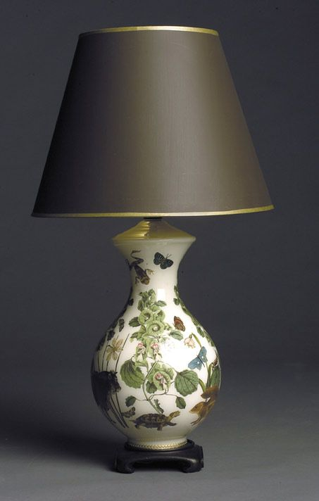 I love this decoupaged lamp