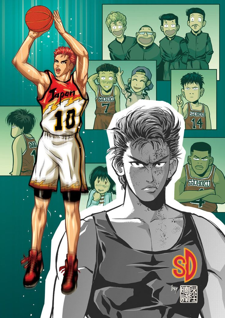 Future and past of Hanamichi Sakuragi by ilpuci on DeviantArt