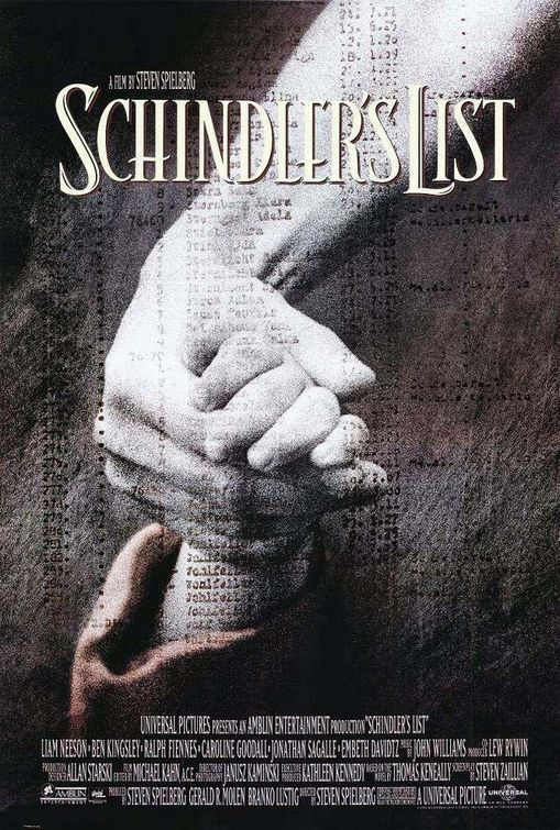 """Schindler's List"" > 1993 > Directed by: Steven Spielberg > Biopic / Drama / History / Drama / War / War Drama"