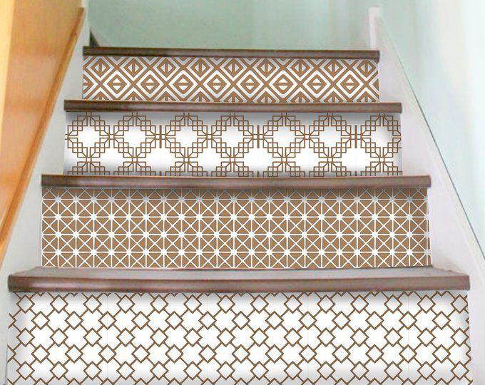Marrakesch Stair Riser Aufkleber 10 Streifen Mit 120cm Lange Etsy Stair Riser Vinyl Peel Stick Vinyl Stair Decals