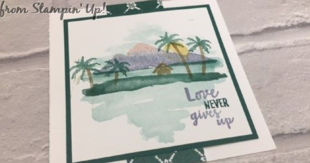 Pop Out Z Fold Card using Waterfront stamps by Stampin Up! to create a simple little Love Island scene... or for Robinson Crusoe. Created by Amanda Bates at The Craft Spa. Stampin Up UK. Shop Online 24/7.