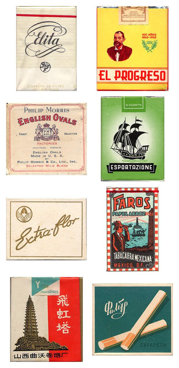 Amazing vintage cigarette pack designs from around the world « GRAM ::: disseny gràfic :::: solucions creatives