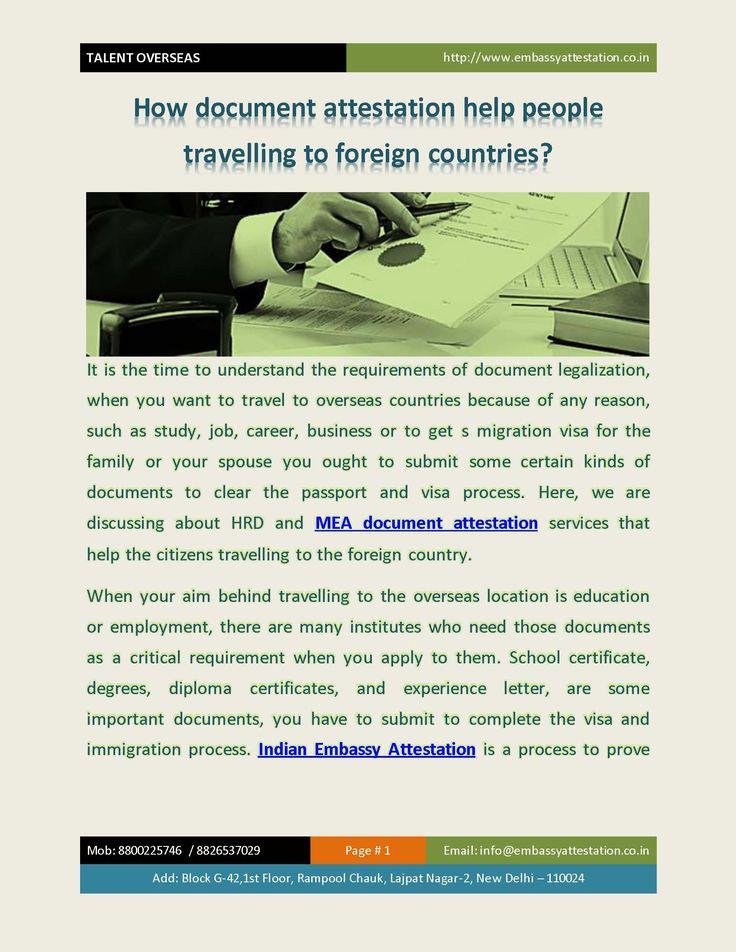 25 best Embassy Certificate Attestation in Ahmedabad, Pune, Mumbai - invitation letter for us visa notarized