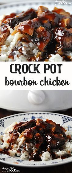 This Crock Pot Bourbon Chicken is easy and delicious! Recipe from Recipes that cROCK!