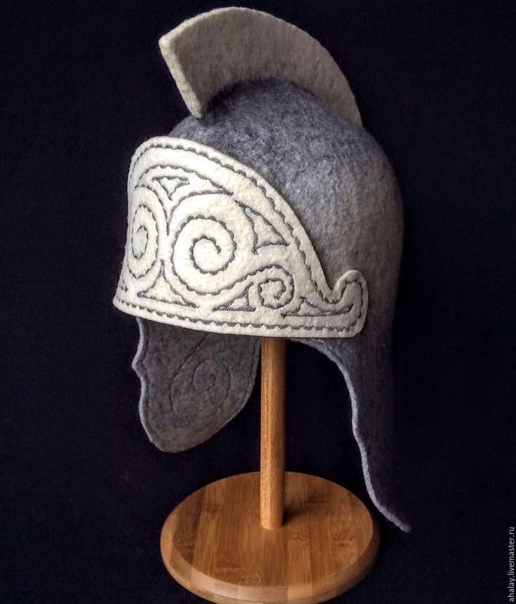 Купить Шапка банная мужская из войлока ручной работы - банная шапка, шапка для бани