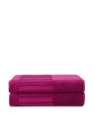 60% OFF Garnier-Thiebaut Set of 2 Bath Sheets, Fuchsia