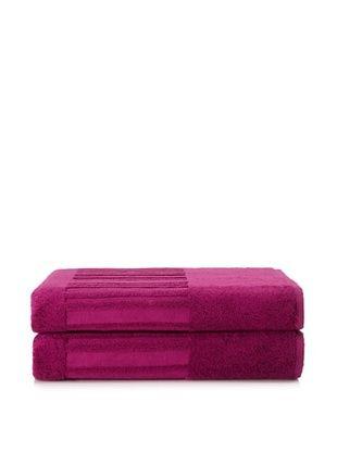 60% OFF Garnier-Thiebaut Set of 2 Bath Sheets, Fuchsia