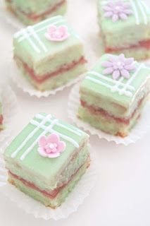 Strawberry Lime Petit Fours