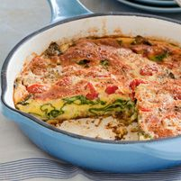 tomatoes frittata turkey sausage food breakfast layered frittata ...