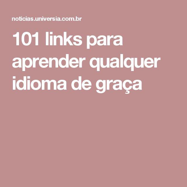 101 links para aprender qualquer idioma de graça