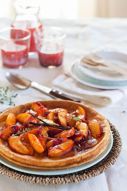 Ricotta and peach cake