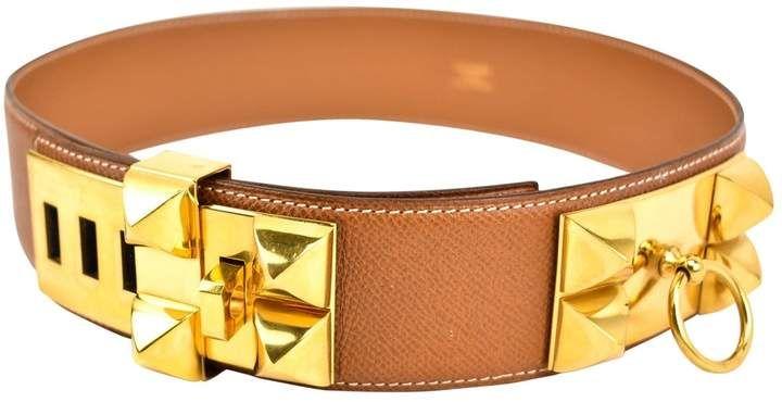 Hermes Collier De Chien Brown Leather Belts 2020
