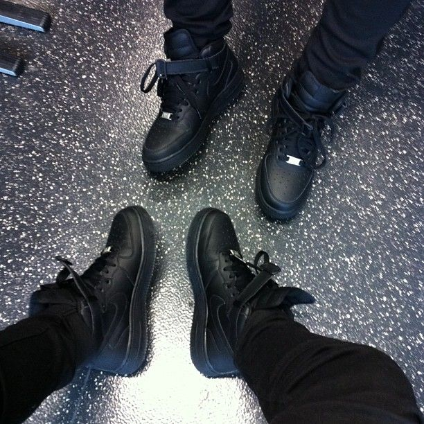all black high top forces- OFF 75