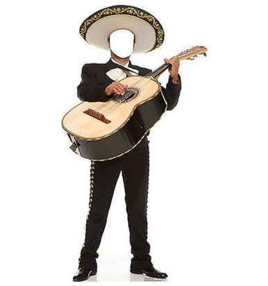 MARIACHI GUITAR STANDIN MEXICAN FIESTA LIFE SIZE STANDUP CARDBOARD CUTOUT 1983