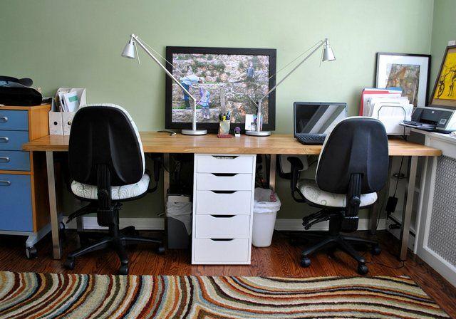 two person desk ikea