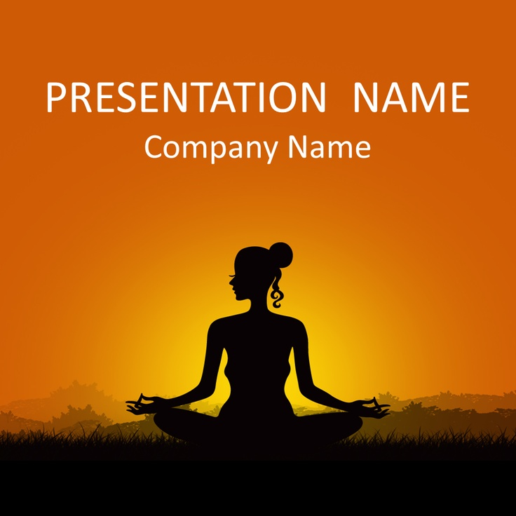 15 best general powerpoint templates images on pinterest beautiful powerpoint template with an illustration of a woman meditating during sunset use this theme for presentations on yoga relaxation meditation toneelgroepblik Image collections