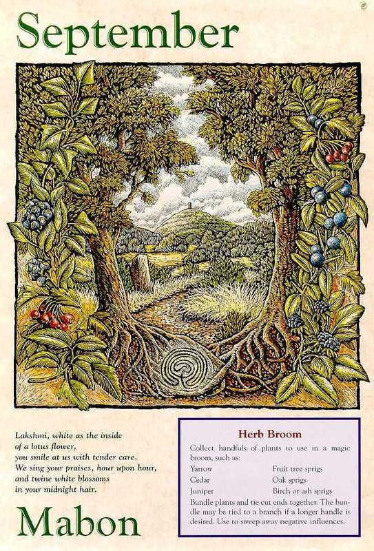 - Mabon (Autumn Equinox - Pagan) September Herb Broom - Pinned by The Mystic's Emporium on Etsy