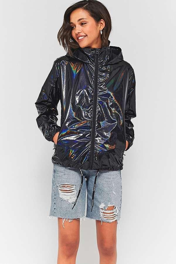 Slide View: 3: Calvin Klein - Veste de pluie pétrole pliable