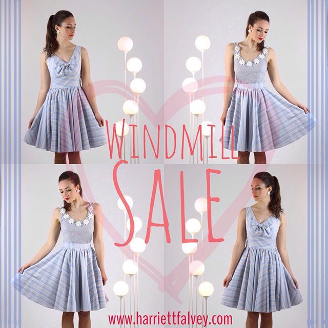 #windmill #dress & #skirt #sale #availablenow through the #onlineshop www.harrietfalvey.com #happy #wednesday