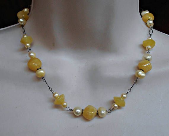 Sterling Amber Necklace Baltic Amber Freshwater Pearl
