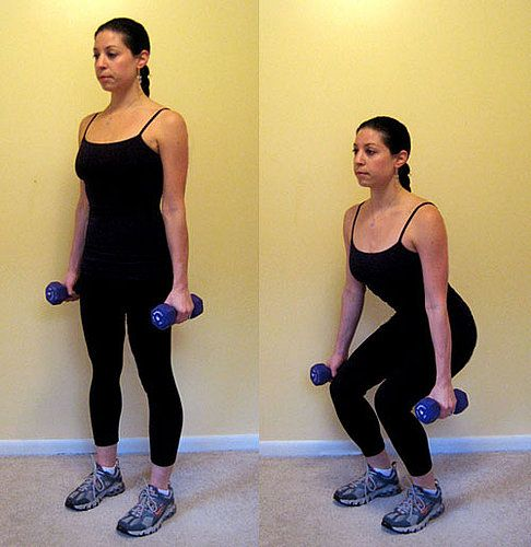 The 25+ best Dumbbell squat ideas on Pinterest | Tricep workout ...