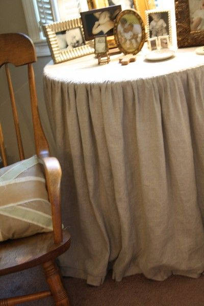 49 Best Skirted Tables Images On Pinterest Table Skirts