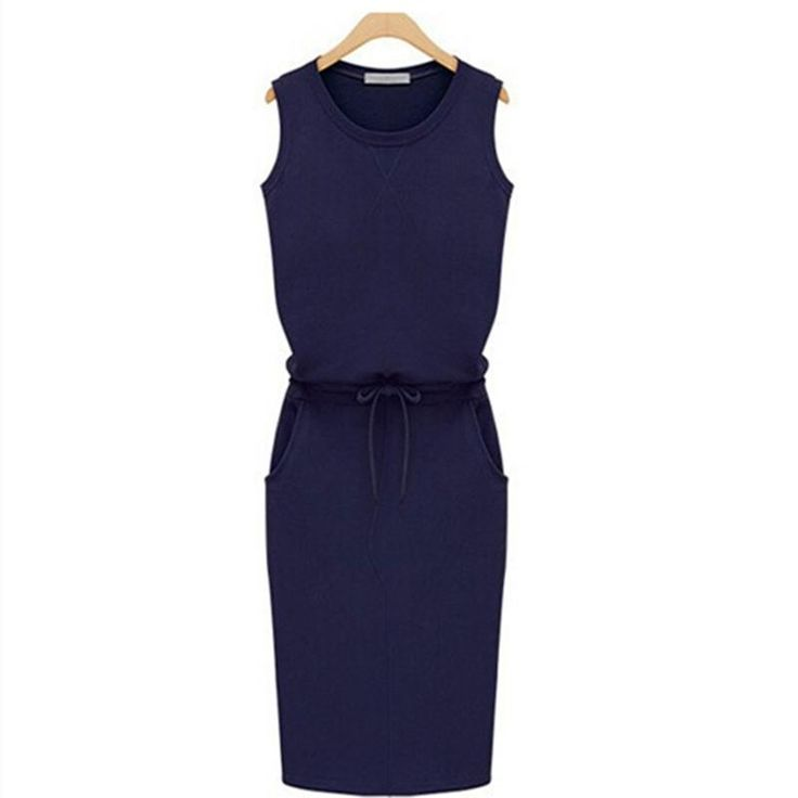 This is a great hit: Summer Dress Fash... Its on Sale! http://jagmohansabharwal.myshopify.com/products/summer-dress-fashion-women-sleeveless-cotton-slim-pockets-with-belt-pencil-dresses-casual-female-sexy-dress-vestido?utm_campaign=social_autopilot&utm_source=pin&utm_medium=pin