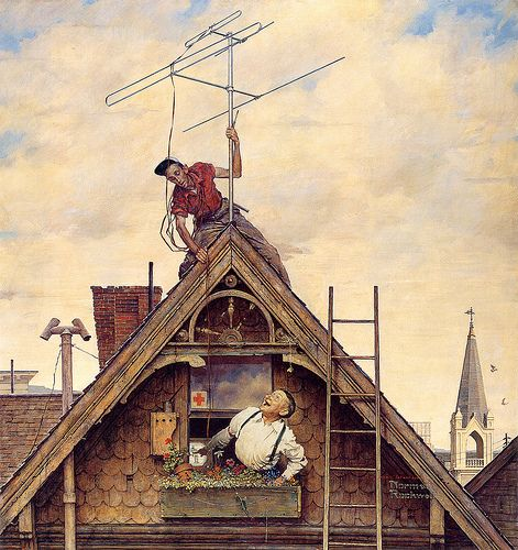 1949 ... New Television Antenna - Norman Rockwell
