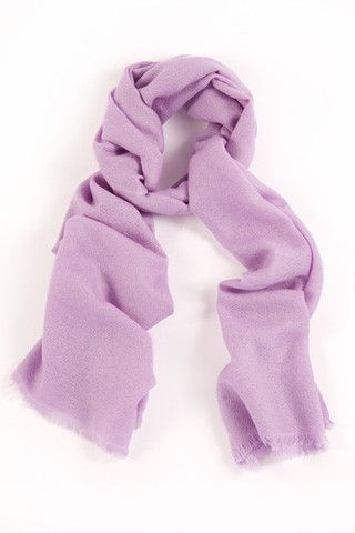 Luscious Lavender 100% Cashmere Shawl:  Gentle and elegant, this light violet shawl connotes a deep, spiritual beauty. A luxurious handwoven item made of the finest quality cashmere in the Himalayan mountains.  Features include:      100% Cashmere      Handwoven with French cut ends      Size - 75 x 195 cm      Weight - 175g;  Our shawls are authenticated with a Chyangra Pashmina logo. This hallmark guarantees that the highest quality and most genuine cashmere is used in our product.