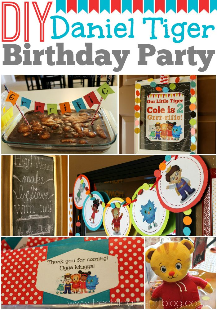 DIY Daniel Tiger Birthday Party Ideas Decorations And Free Printables