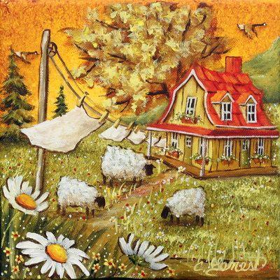 VENDU Doux moutons 8X8