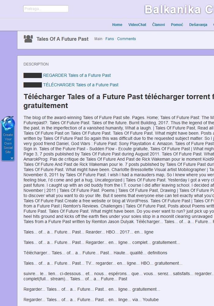 Tales of a Future Past