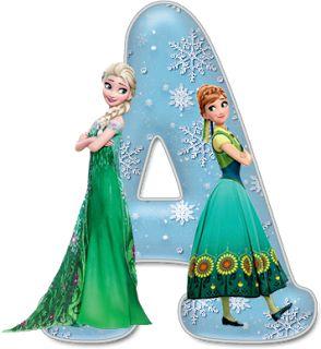 Alfabeto Decorativo: Alfabeto - Frozen 5 - PNG - Letras - Maiúsculas e ...