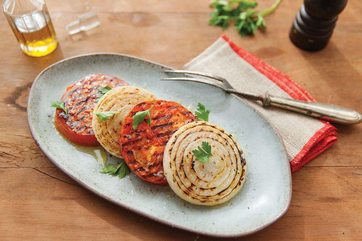 Salada de tomate e cebola grelhados | Receita Panelinha: Raio gourmetizador?…