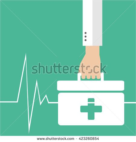 hand holding medicines, behind green backdrop and life line