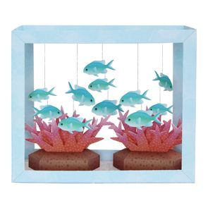 Paper Aquarium: Blue-Green Puller - Toys - Paper Craft - Canon CREATIVE PARK