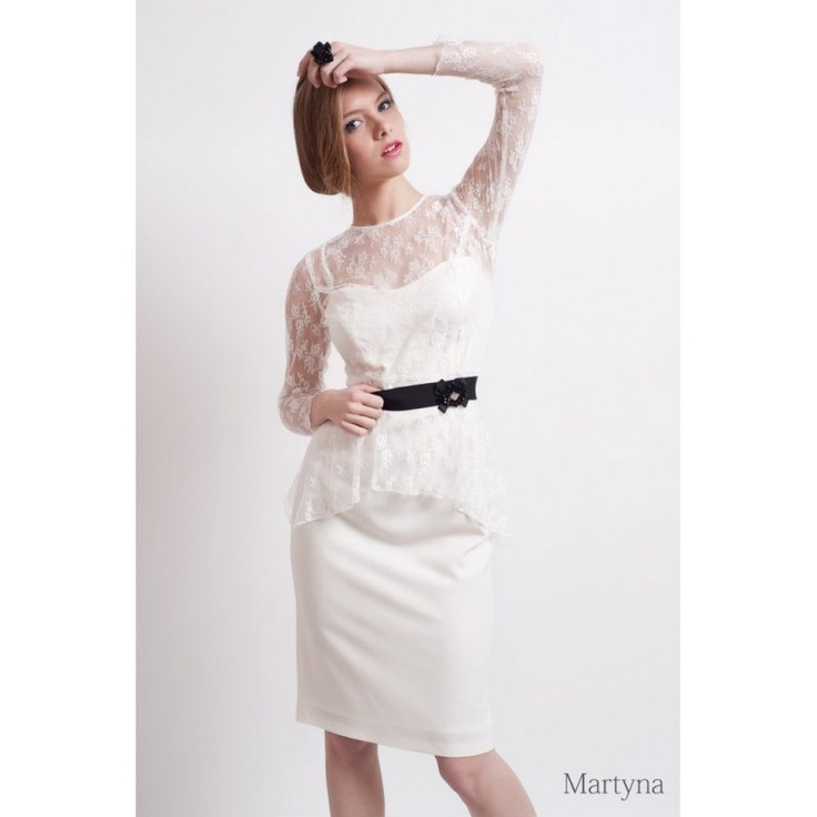 Martine, simple, light and elegant dress with lace top