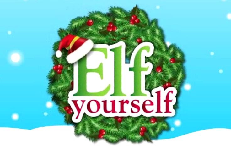 Elf yourself app its really fun