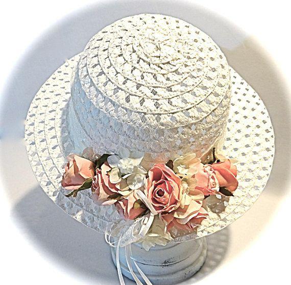 Girl S Easter Bonnet Sunbonnet Rose Tea Party Flower Girl Etsy Easter Bonnet Girls Easter Bonnet Girl With Hat