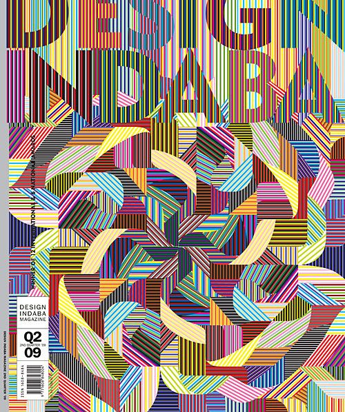 "Cover design for a magazine called ""Design Indaba"" by Marian Bantjes"