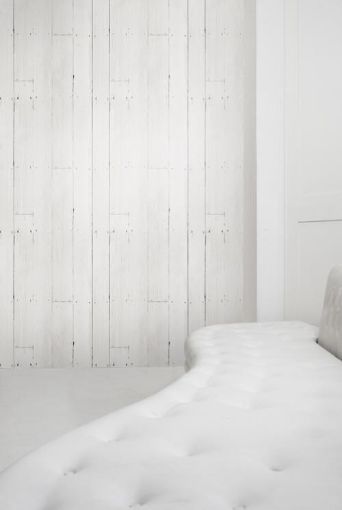 Wall paper that looks like wood. Plank Wallpaper by Mineheart