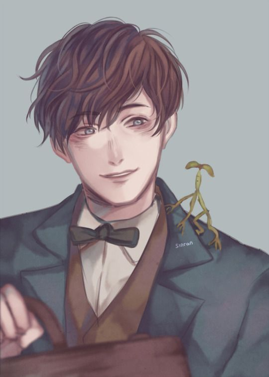 Newt Scamander by sinran's art blog