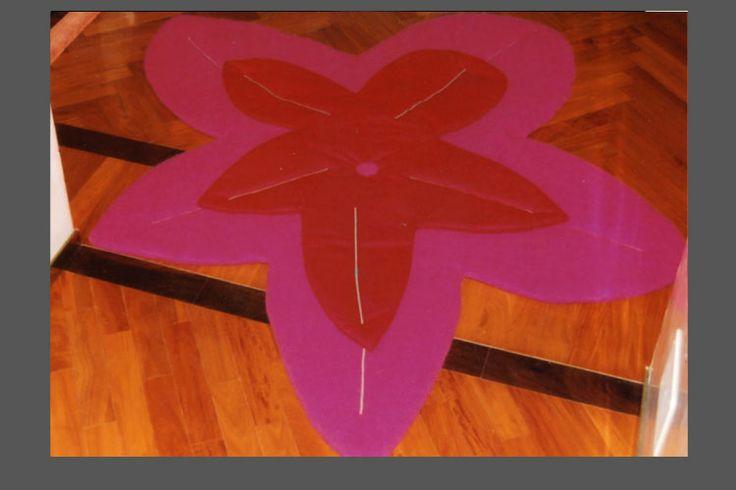 tappeto fiore in tessuto arredamento