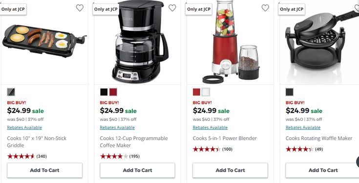 JCPenney Cooks Small Appliances Only 11.24 (Reg 40