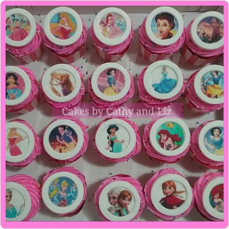 Princess cupcakes  www.facebook.com/cakesbycathyandliz  #princess