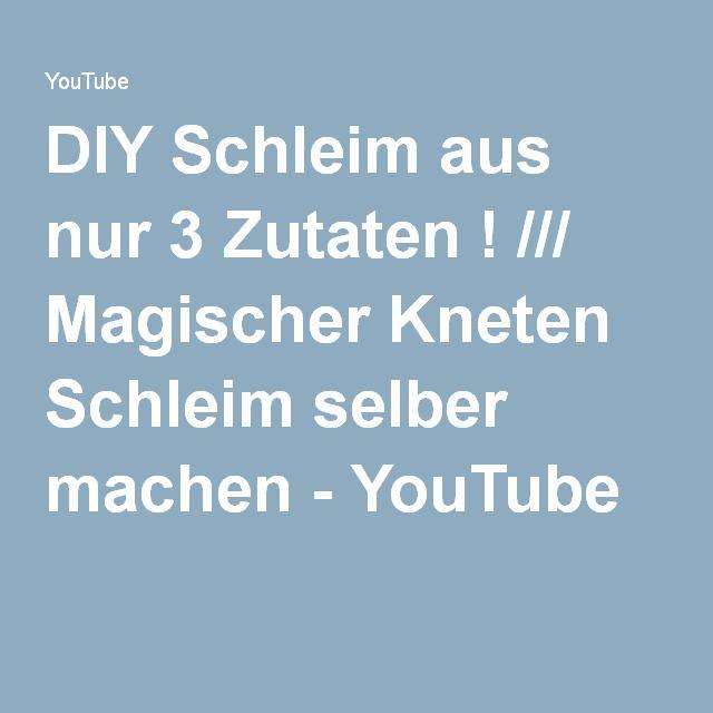 diy schleim aus nur 3 zutaten magischer kneten schleim selber machen youtube schleim. Black Bedroom Furniture Sets. Home Design Ideas